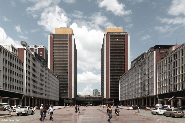 View of the Silencio Towers in Caracas, Venezuela